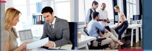 Personen im Business Dresscode
